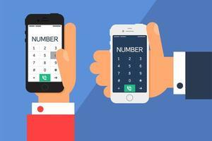 teléfono inteligente con un dial vector