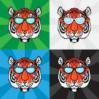 Line Art Tiger vector