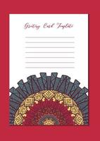 Mandala oriental template card vector