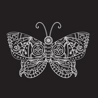 tatuaje de mariposa steampunk vector
