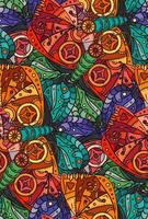 Steampunk butterfly seamless pattern vector