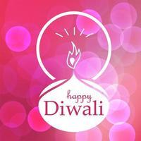 banner de celebración de feliz diwali vector