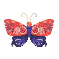 Steampunk butterfly tattoo vector