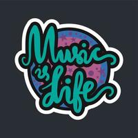 Music is Life vector