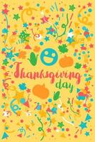 Thanksgiving Day Celebration Banner vector