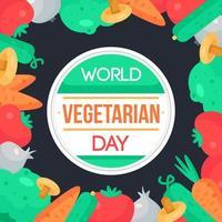 dia mundial del vegetariano vector