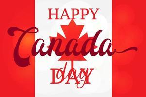 feliz dia DE CANADA vector