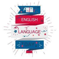 banner del día del idioma inglés vector