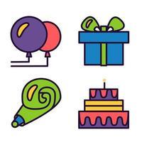 feliz cumpleaños y mantén la calma vector