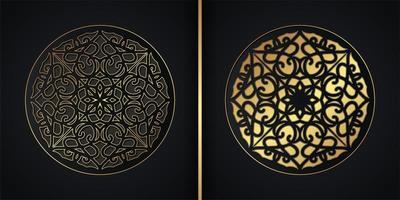 Dark mandala background concept design vector