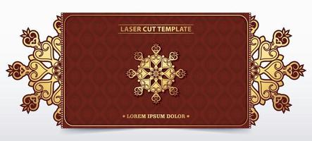 Decorative laser cut template for wedding vector