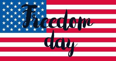 Freedom Day With Flag