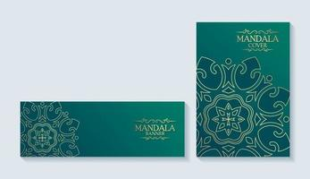 Luxury mandala style covers and cards vector