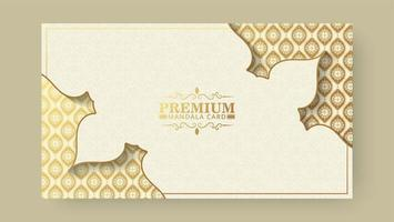 Yellow gold color mandala background concept vector