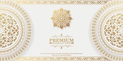Luxury white mandala background concept vector