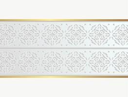 Elegant white ornamental border design vector