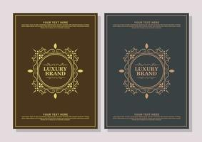 Luxury ornament greeting card vector template