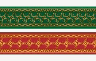 Henna banner colorful border vector
