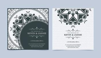 Elegant wedding invitation wth mandala style design