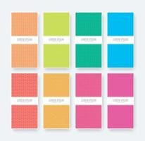 Abstract pattern background with flat colors