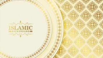 elegante fondo islámico con motivo de patrón vector