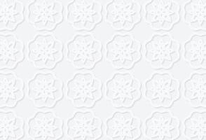 Abstract Islamic white geometric pattern background vector