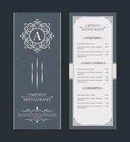 Menu layout with ornamental elements vector