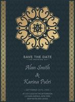 Luxury wedding invitation with mandala