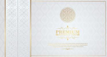 Luxurious white mandala background with decorative frames vector
