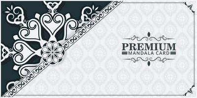 Decorative mandala ornamental background design template vector