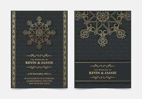 Elegant mandala wedding invitation card template design