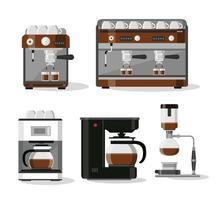 juego de máquina de café y espresso vector
