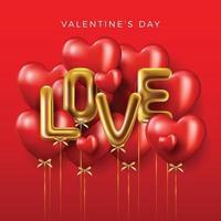 Happy Valentine's Day banner vector