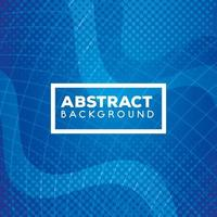 Fondo azul geométrico y abstracto con ondas. vector