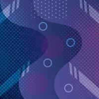 Fondo geométrico y abstracto púrpura con ondas vector