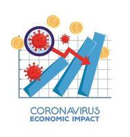 infographic of coronavirus economic impact vector