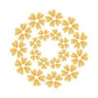 flowers garden around decoration emblem vector