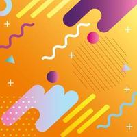colorido fondo geométrico y abstracto con iconos vector