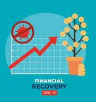 infographic of financial recovery vector