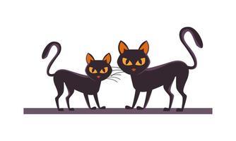 halloween black cats vector