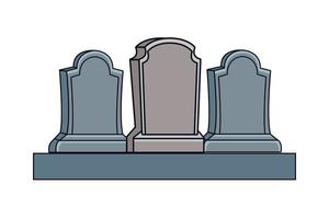 cemetery tombs isolated icons