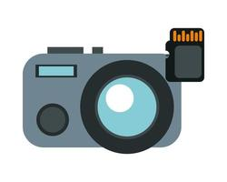 camera photographic device with sd card vector