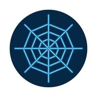 halloween spider web neon style icon vector