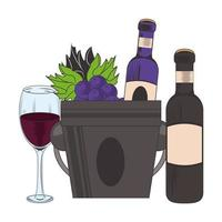 ice bucket with wine bottle and glass design