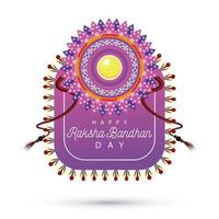india raksha bandhan decoración floral vector