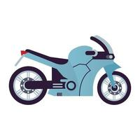 blue race motorcycle style vehicle icon vector
