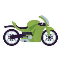 green race motorcycle style vehicle icon vector