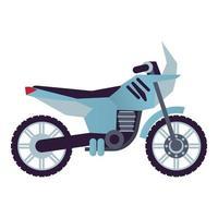 street bike motorcycle style vehicle icon vector