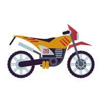moto cross motorcycle style vehicle icon vector