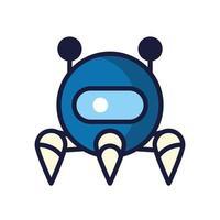robot cyborg tech isolated icon vector